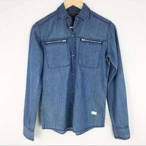 7 For All Mankind Girl's Large Chambray Top